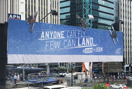 New Zealand Outdoor Campaign Sends Olympic Skiers Sky High