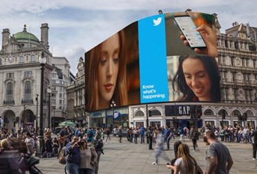 Twitter twinkles in the Piccadilly light